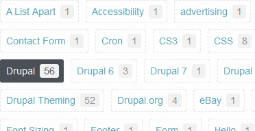 My Drupal Blog categories block