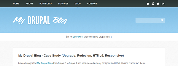 My Drupal Blog home page